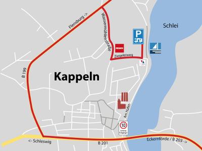 Anfahrt Wohnmobil-Stellplatz